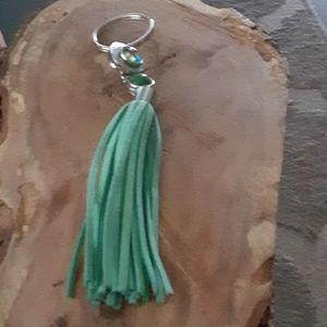Jewelry - 3/$15.    Leather tassel keychain